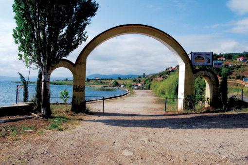 Pogradec - L'ingresso al Camping Peschku