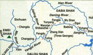 Cina 1907 la piantina del viaggio