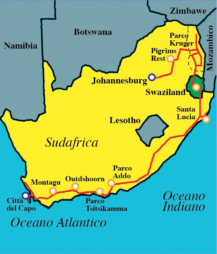 Avventura in citta for Sud africa immagini