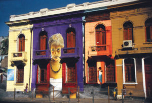 Cile palazzo dipinto con Murales