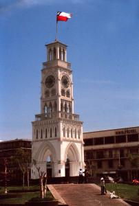 Cile torre con bandiera