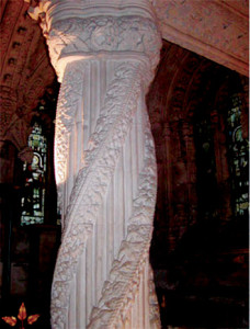 Colonna a Rosslyn chapel