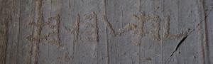 Rupestri scritta Etrusca