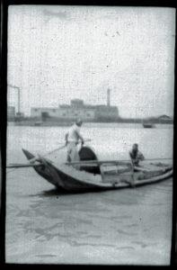 Cina 1907 Giunca con remo-timone