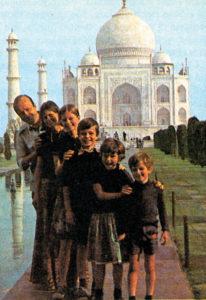 La famiglia Des Palliéres al Taj Mahal