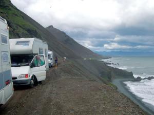 Islanda '03 Camper sulla costa