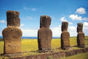 Isola di Pasqua Moai dal retro