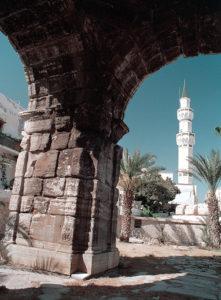 Tripoli Arco di Marco Aurelio con la Moschea Gurgi