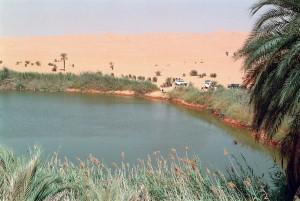 Libia Sahara Lago