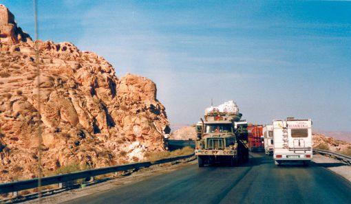 Giordania 1997 - Aqaba Camper e convoglio Onu