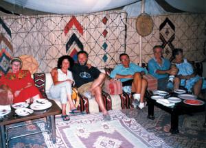 Cena all'Hotel Zenobia di Palmira 1997