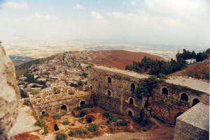Krak dei Cavalieri sullo sfondo il Libano