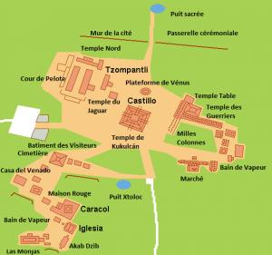 Pianta di Chichén Itzá