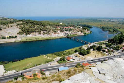 Scutari - I fiumi: Buna, Drin, Kiri. e il Lago di Scutari