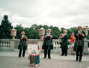 Suonatori a Peterhof
