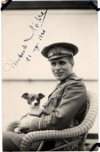 Umberto Nobile con cane